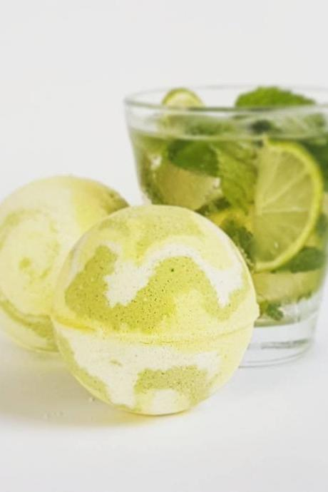 Mojito Bath Bomb with Mint and Lime